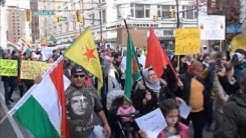 ونکوور: تظاهرات 12 اکتبر در اعتراض به تهاجم نظامی ترکیه به روژاوا