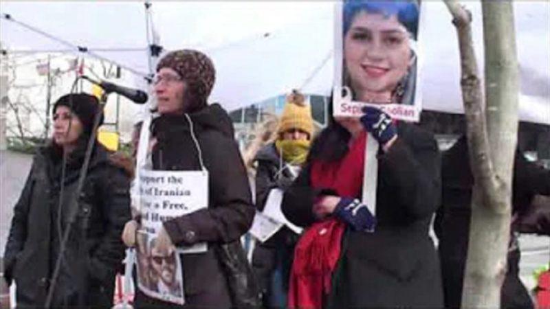 تجمع 11 ژانویه در ونکوور در همدردی با قربانیان سقوط هواپیما و در همبستگی با جنبش مردم ایران