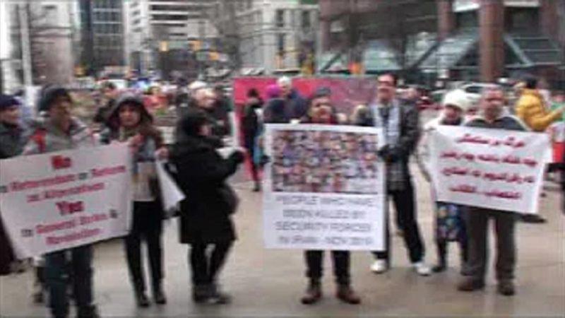 ونکوور 25 ژانویه، به یاد جانباختگان اخیر و در همبستگی با جنبش انقلابی مردم ایران