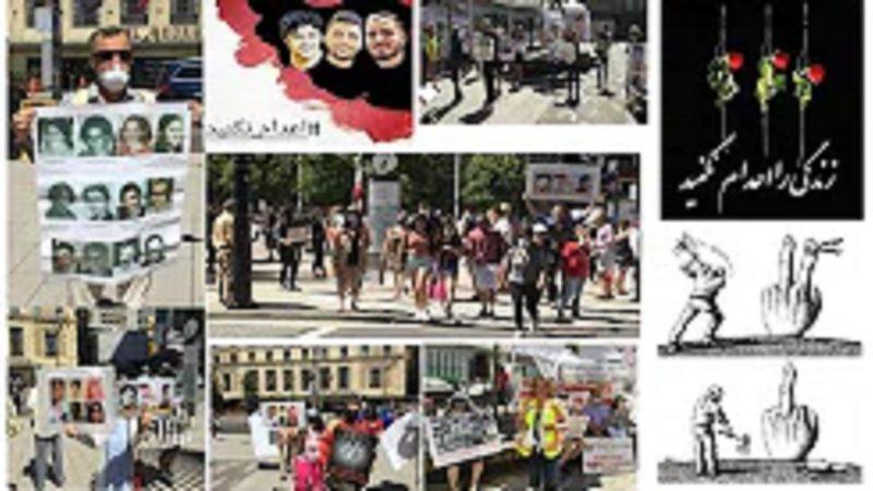 گزارش آکسیون شنبه 18 جولای در ونکوور کانادا در همبستگی با کمپین بین المللی اعدام نکنید