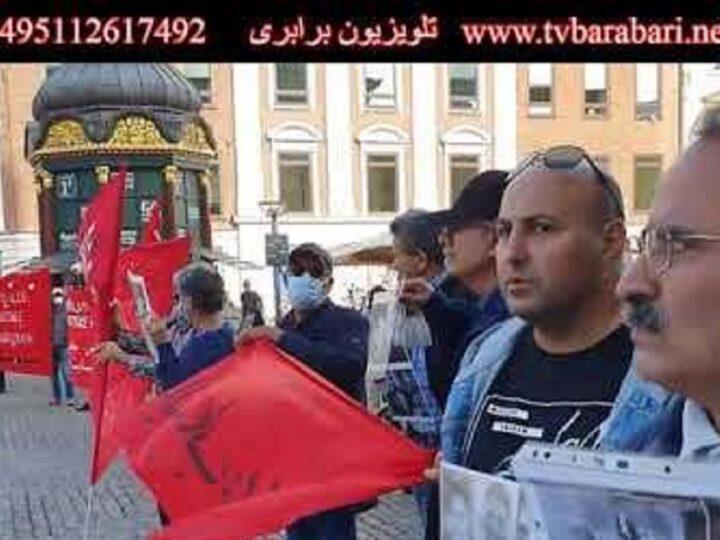 آکسیون 19 سپتامبر در کپنهاگ دانمارک در اعتراض به قتل نوید افکاری و در حمایت از زندانیان سیاسی ایران