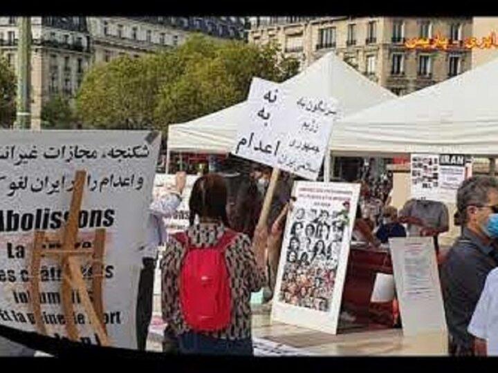 گزارش تصویری آکسیون 19 سپتامبر در پاریس در اعتراض به قتل نوید افکاری و کلیت رژیم اسلامی