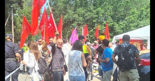آکسیون 18 ژوئن در استکهلم علیه نمایش انتخابات در ایران