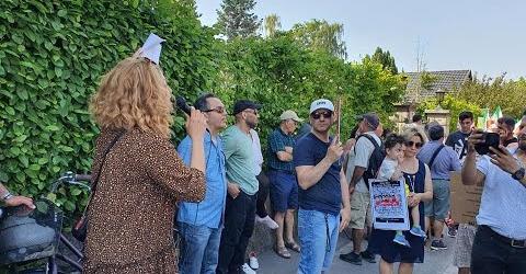آکسیون 18 ژوئن در کپنهاگ علیه نمایش انتخابات در ایران