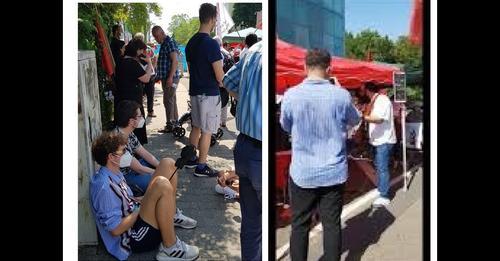 آکسیون 18 ژوئن در فرانکفورت علیه نمایش انتخابات در ایران