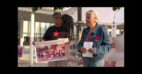 گزارش آکسیون ۸ جولای ونکوور در همبستگی با اعتصاب سراسری کارگران پیمانی نفت ایران