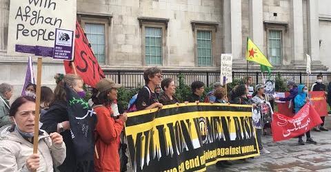 گزارش تظاهرات لندن در همبستگی با مردم و زنان افغانستان