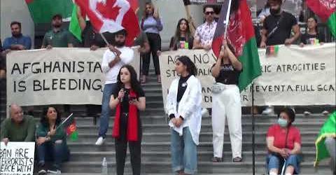 گزارش تظاهرات شنبه 28 اگوست در ونکوور بر علیه طالبان افغانستان